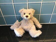 Baxterbear Fluffy Soft Toy Teddy Bear Tartan Shouder Exc Cond Scotland Souvenir