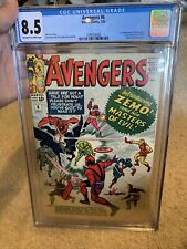 Avengers #6 CGC GRADED 8.5 VF+ First 1st appearance of Baron Zemo DISNEY