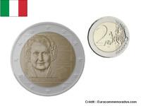 2 Euros Commémorative Italie 2020 Montessori UNC