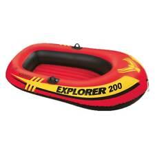 Intex Explorer 200 Inflatable 2 Person River Boat Raft Set 2 Oars & Pump (Used)