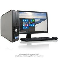 DELL/HP/LENOVO DUAL CORE DESKTOP TOWER PC COMPUTER SYSTEMS WINDOW 10,4GB,250GB