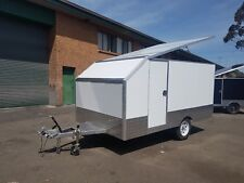White Motorbike Work Enclosed Trailer | 4 Bike | 940kg Payload | 11.5 x 6.5 ft