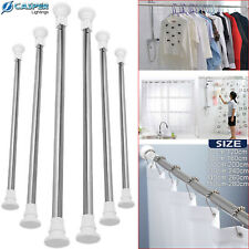 Extendable Telescopic Shower Curtain Rail Pole Rod Bath Door 70-120 to 150-280CM