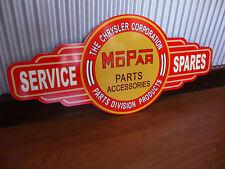 Mopar Metal Tin Sign bar garage car Service Spares Chrysler Valiant