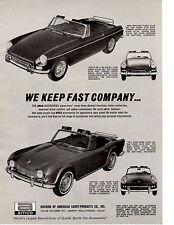 1965 TRIUMPH TR-4 / SPITFIRE / MGB  ~  ORIGINAL AMCO PRINT AD