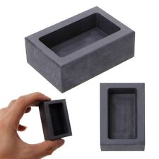 Graphite Crucible Ingot Mold Oven Fusion Cast Melting 150g Gold Bar Molds Tools