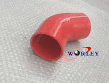 RED Silicone Hose 45 degree Bend Elbow 3 inch 76mm Silicon Intake Tube pipe