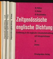 Zeitgenössische Englische Dichtung I II +  III Prosa Drama Lyrik Hüllen / Meller