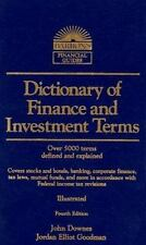 Dictionary of Finance and Investment Terms by John Downes and Jordan Elliot Good