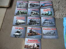JOB LOT OF 13  ATLAS TRAIN SPECIFICATION SHEETS/BOOKLETS GWR FLYING SCOTSMAN ETC