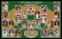 1972 OAKLAND ATHLETICS Baseball Card Complete Set POSTER Artwork Man Cave Decor