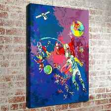 """LeRoy Neiman space volleyball Art pictures 16""""x24"""" HD Print on Canvas Home Decor"""