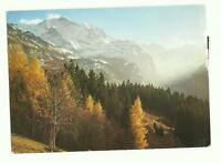 Swiss Radio International, Switzerland QSL card, Jungfrau (Berne) 1979