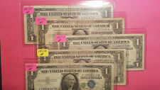 """1 Lot of 5 - 1957,57A & 57B """"Star"""" 1$ Silver Certificate Notes!"""