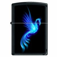 Phoenix Burning Blue Zippo Lighter - New in Box!
