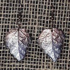Ohrhänger Ohrschmuck Blatt Kupfer/Silber Polymerclay Swarovski Handmade unikat