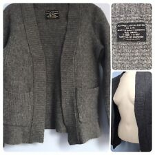 All Saints Spitafield Wreck Open Grey 65% Lambswool 14% Angora Cardigan S 8