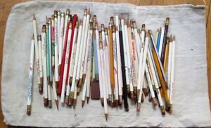 Advertising Pencils - Lot of 85 PIECES, 1950s/60s/Mid-Century in Canvas Bank Bag