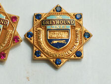 Greyhound Bus Lines Pin, 8 blue Sapphires? 4 Year Award , (#03A Bus)*(*)