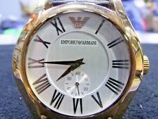 Original Excellent Watch Emporio Armani Mans Rose Gold Ss 50m Watch