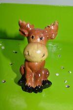 "New listing 5"" Moose Yard Statue Garden Figurine Flower Pot Stake Pick Sitter #33"