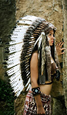 Native American Headdress / Long Indian Headdress / War Bonnet / Indian Costume