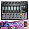 bluetooth Audio Mixer 12 Channel Live Studio Mixing Console USB XLR 48V