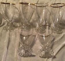 Vintage Water Goblet Gold Boopie  By Anchor Hocking 8oz 6PC