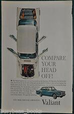 1960 CHRYSLER VALIANT advertisement, Plymouth Valiant, overhead photo