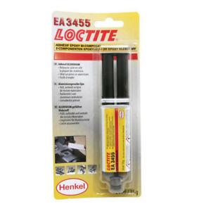 Résine époxy bi-composant aluminium LOCTITE 3455 A&B seringue 24 ml , (gris)