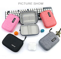 IKSNAIL for Airpods Storage Bags Case for Xiaomi Power Bank Earbuds Headphone