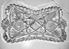 Vintage Cut Crystal Glass Dish Dessert Candy Nuts Dish