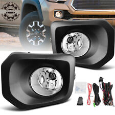 for 2016-2018 Toyota Tacoma Clear Bumper Fog Light Lamps w/Bulbs & Switch Kit US