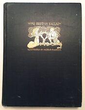 Some British Ballads Illustrated Arthur Rackham circa 1920's Oversized Hardcover