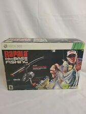 *NEW* Microsoft XBOX 360 Rapala Pro Bass w/ Fishing Rod Controller And Game.