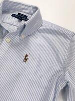 Ralph Lauren Slim Fit Blue/white Stripe Oxford Shirt