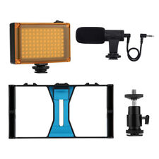 3 in 1 Live Broadcast LED Selfie Light Video Rig Kits Tripod for All Smartphone