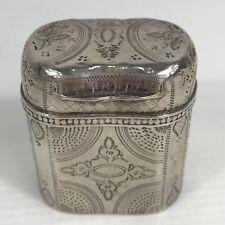 Antique Solid Silver Hallmarked Dutch Pill / Snuff Box Decorative Circa 1873
