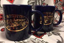 Two (2) Budapest Souvenir Travel Coffee Mug International Tea Cup Europe Hungary