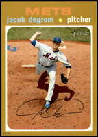 Jacob deGrom 2020 Topps Heritage 5x7 Gold #406 /10 Mets