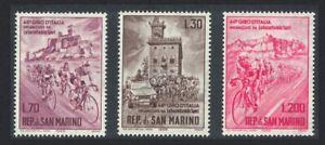 San Marino Cycle Tour of Italy 3v 1965 MNH SG#770-772 SC#609-611