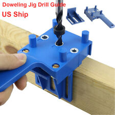 Woodworking Handheld Doweling Jig Drill Bits Guide Wood Dowel Drilling Hole Kit