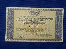 Poland 1939r. BON OBRONY PRZECIWLOTNICZEJ - Poland - 1939. Bonantiaircraft defen