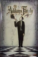 The Addams Family Original Single Sided Movie Poster Raul Julia Angelica Houston