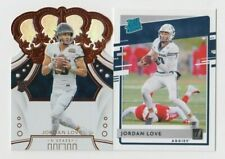(2) Jordan Love 2020 PANINI CHRONICLES CROWN ROYALE + RATED ROOKIE LOT PACKERS