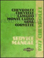 1977 Chevy Shop Manual 77 Corvette Camaro Nova Impala Caprice Classic Chevrolet