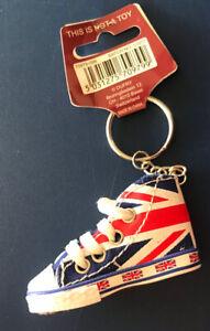 CONVERSE All Star Chuck Taylor Union Jack Hi-Top Shoe Key Chain *NWT*