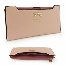 Donne Lady PU leather wallet Purse Handbag CASE CARD HOLDER BAG POCHETTE Zipper UK