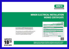 Minor Electrical Works Certificates NICEIC 18th Edition
