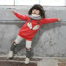 Kids Girls Clothes Winter Tops Sweater Pants 2pcs Outfits Set Baby Tracksuit Q12 L (4 Years)